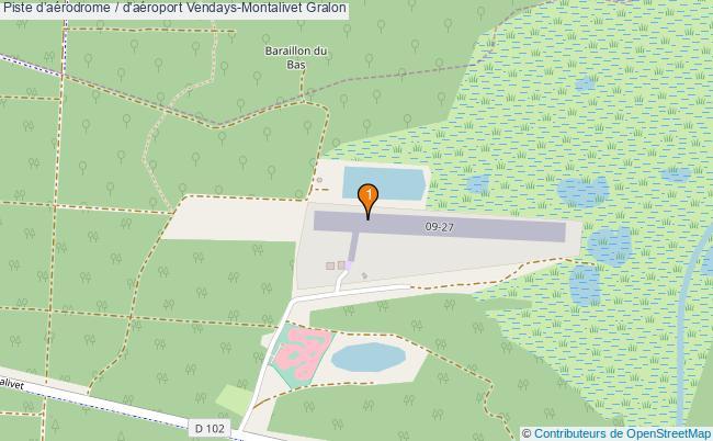 plan Piste d'aérodrome / d'aéroport Vendays-Montalivet : 1 équipements