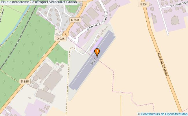plan Piste d'aérodrome / d'aéroport Vernouillet : 1 équipements