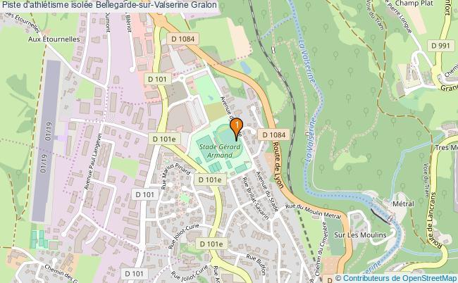 plan Piste d'athlétisme isolée Bellegarde-sur-Valserine : 1 équipements
