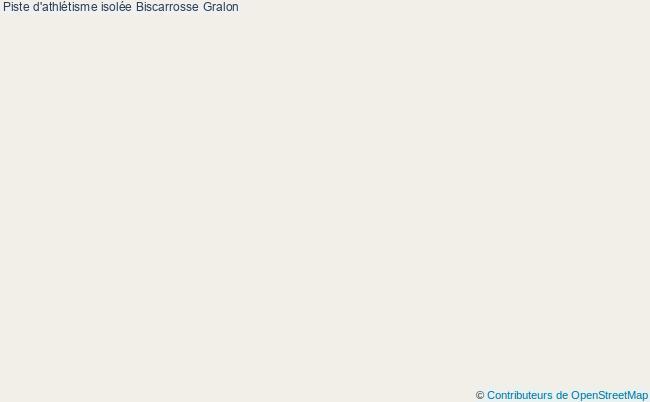 plan Piste d'athlétisme isolée Biscarrosse : 2 équipements