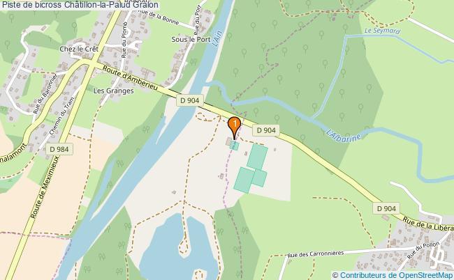 plan Piste de bicross Châtillon-la-Palud : 1 équipements