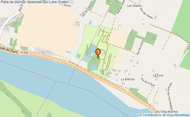 plan Piste de bicross Varennes-sur-Loire : 1 équipements