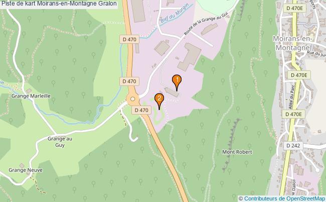 plan Piste de kart Moirans-en-Montagne : 2 équipements