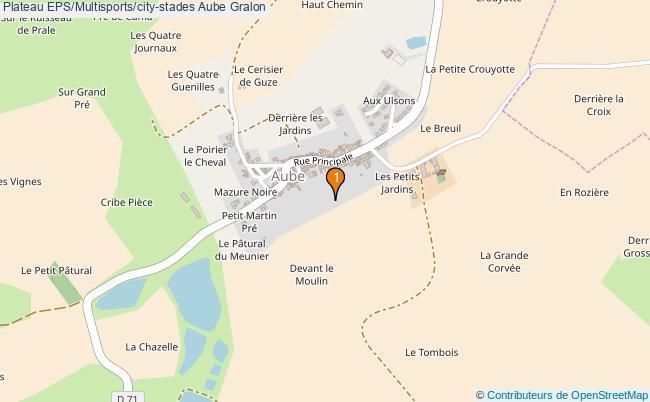 plan Plateau EPS/Multisports/city-stades Aube : 1 équipements
