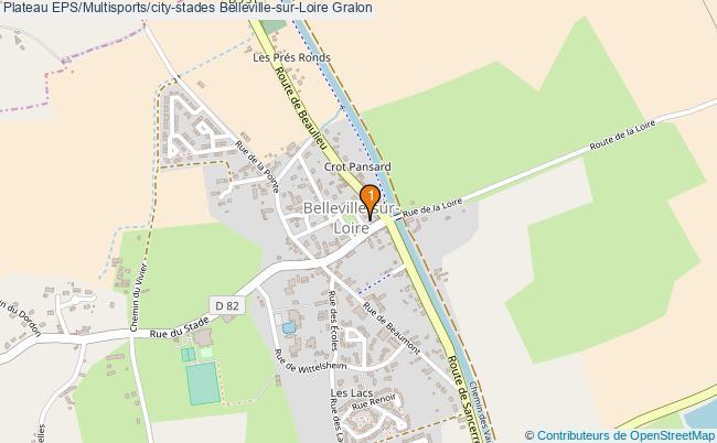 plan Plateau EPS/Multisports/city-stades Belleville-sur-Loire : 1 équipements