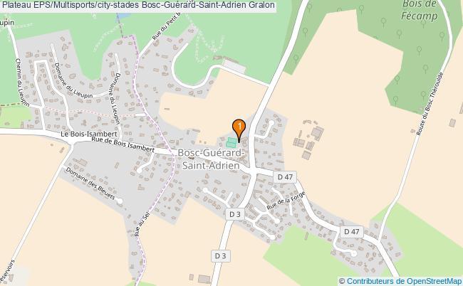 plan Plateau EPS/Multisports/city-stades Bosc-Guérard-Saint-Adrien : 1 équipements