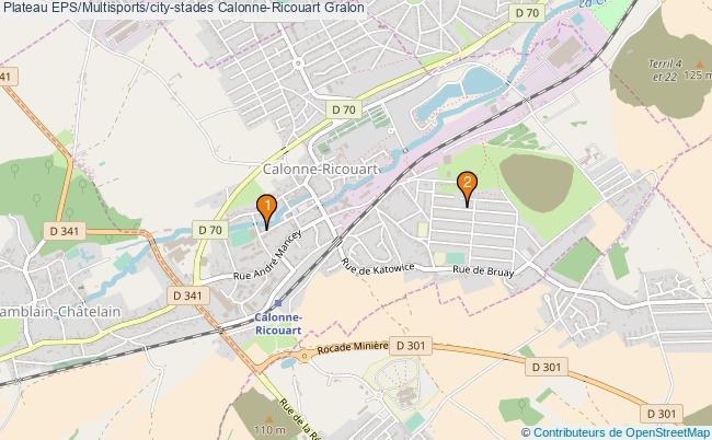 plan Plateau EPS/Multisports/city-stades Calonne-Ricouart : 2 équipements