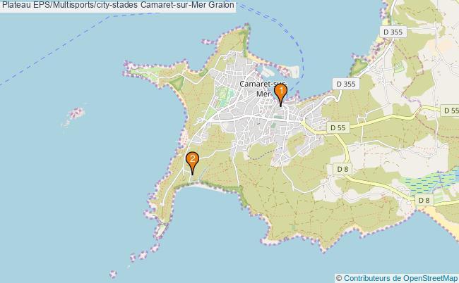 plan Plateau EPS/Multisports/city-stades Camaret-sur-Mer : 2 équipements