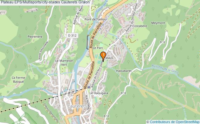 plan Plateau EPS/Multisports/city-stades Cauterets : 1 équipements