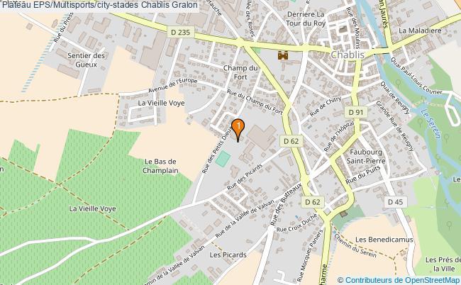 plan Plateau EPS/Multisports/city-stades Chablis : 1 équipements