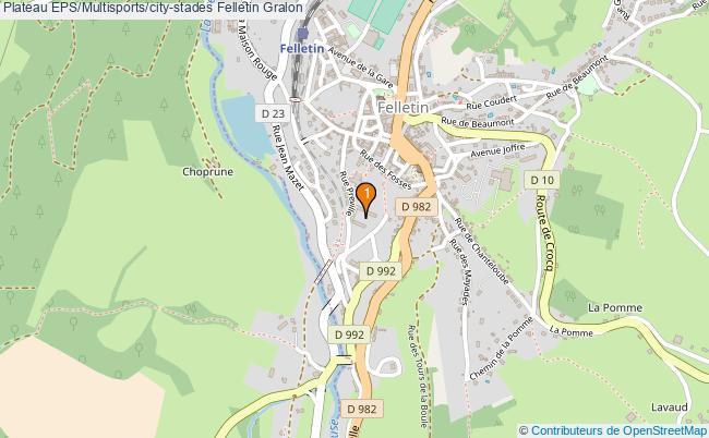 plan Plateau EPS/Multisports/city-stades Felletin : 1 équipements