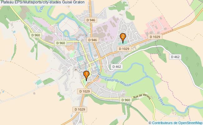 plan Plateau EPS/Multisports/city-stades Guise : 2 équipements