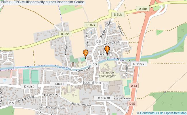 plan Plateau EPS/Multisports/city-stades Issenheim : 2 équipements