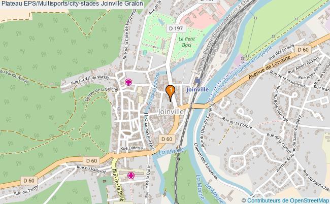 plan Plateau EPS/Multisports/city-stades Joinville : 1 équipements