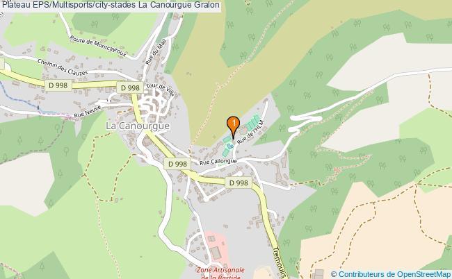 plan Plateau EPS/Multisports/city-stades La Canourgue : 1 équipements