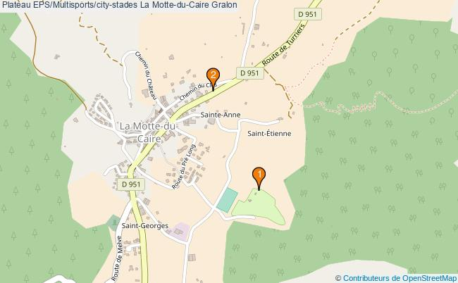 plan Plateau EPS/Multisports/city-stades La Motte-du-Caire : 2 équipements