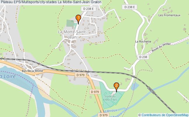 plan Plateau EPS/Multisports/city-stades La Motte-Saint-Jean : 2 équipements