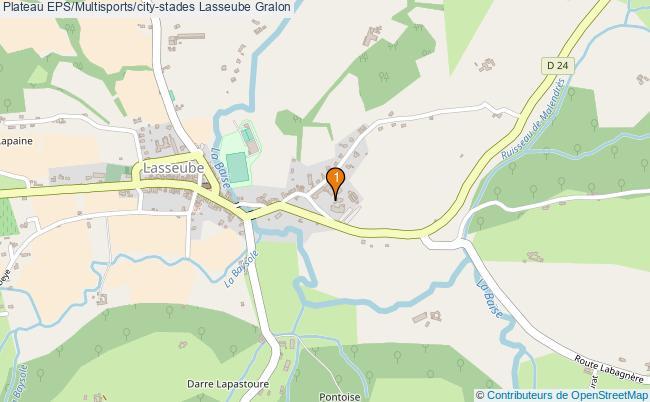 plan Plateau EPS/Multisports/city-stades Lasseube : 1 équipements
