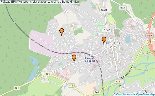 plan Plateau EPS/Multisports/city-stades Luxeuil-les-Bains : 3 équipements