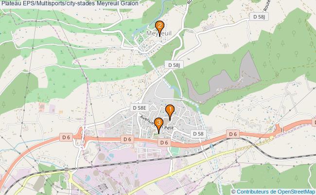 plan Plateau EPS/Multisports/city-stades Meyreuil : 3 équipements