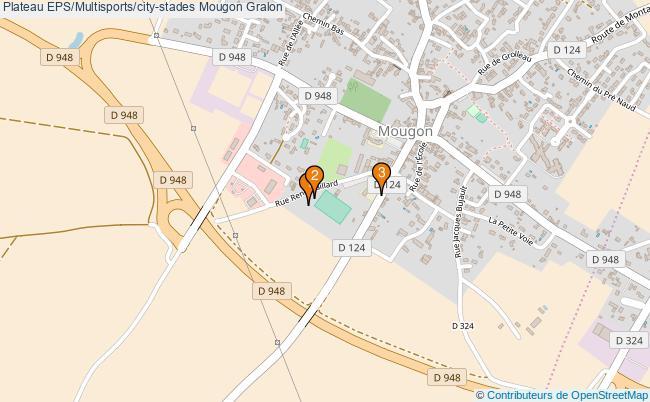 plan Plateau EPS/Multisports/city-stades Mougon : 3 équipements