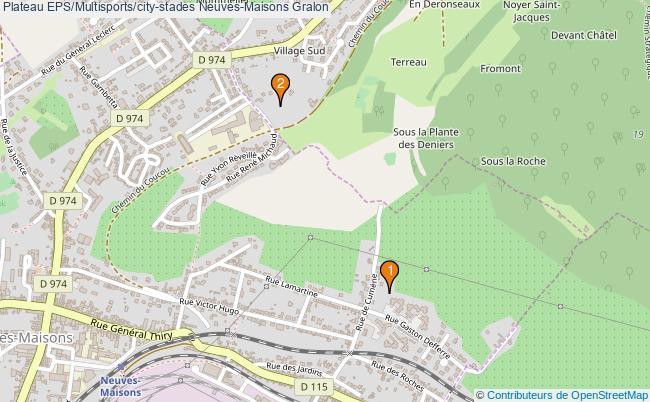 plan Plateau EPS/Multisports/city-stades Neuves-Maisons : 2 équipements