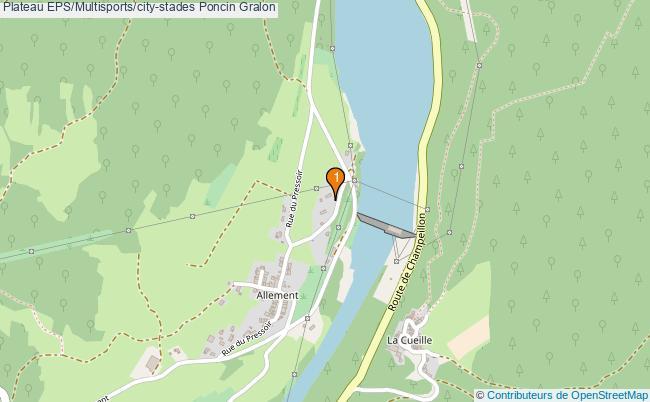 plan Plateau EPS/Multisports/city-stades Poncin : 1 équipements