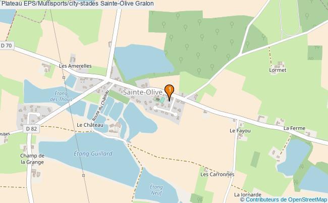 plan Plateau EPS/Multisports/city-stades Sainte-Olive : 1 équipements