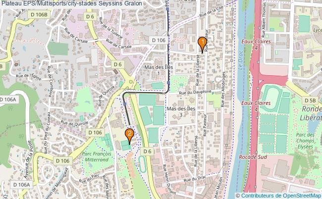plan Plateau EPS/Multisports/city-stades Seyssins : 2 équipements