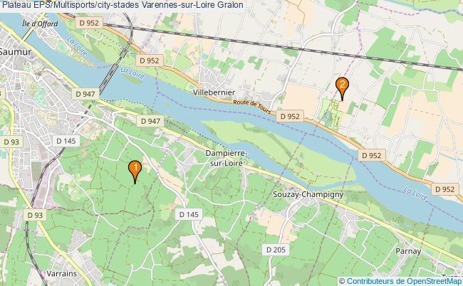 plan Plateau EPS/Multisports/city-stades Varennes-sur-Loire : 2 équipements