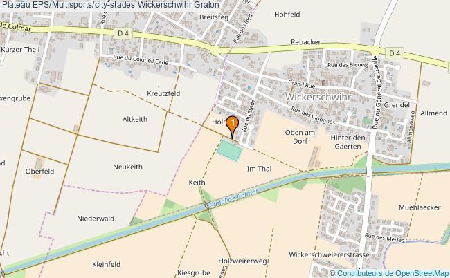 plan Plateau EPS/Multisports/city-stades Wickerschwihr : 1 équipements