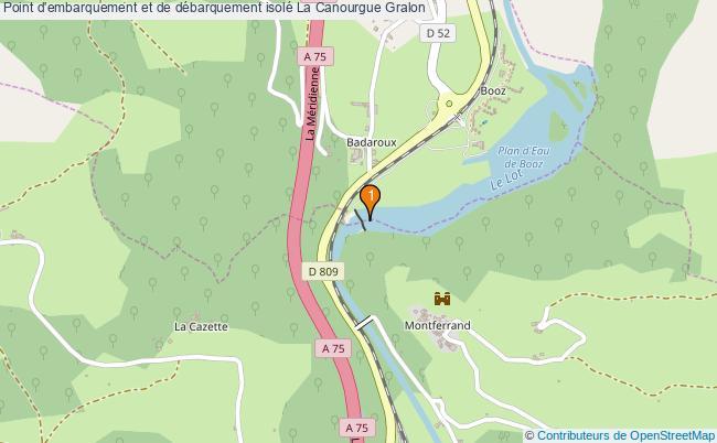 plan Point d'embarquement et de débarquement isolé La Canourgue : 1 équipements