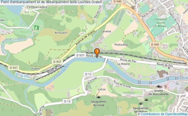 plan Point d'embarquement et de débarquement isolé Lourdes : 1 équipements