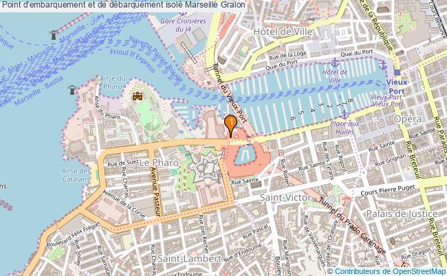 plan Point d'embarquement et de débarquement isolé Marseille : 1 équipements