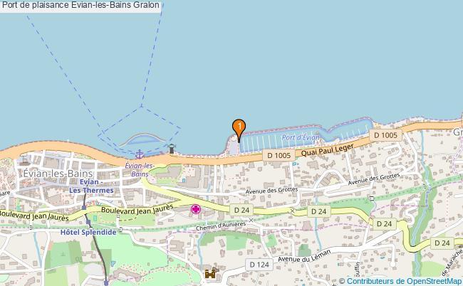 plan Port de plaisance Evian-les-Bains : 1 équipements