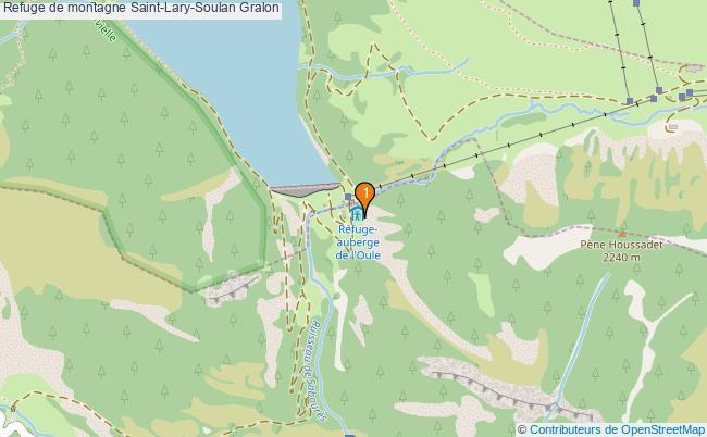 plan Refuge de montagne Saint-Lary-Soulan : 1 équipements