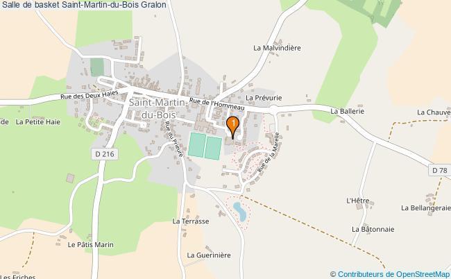 plan Salle de basket Saint-Martin-du-Bois : 1 équipements
