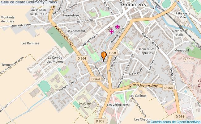 plan Salle de billard Commercy : 1 équipements