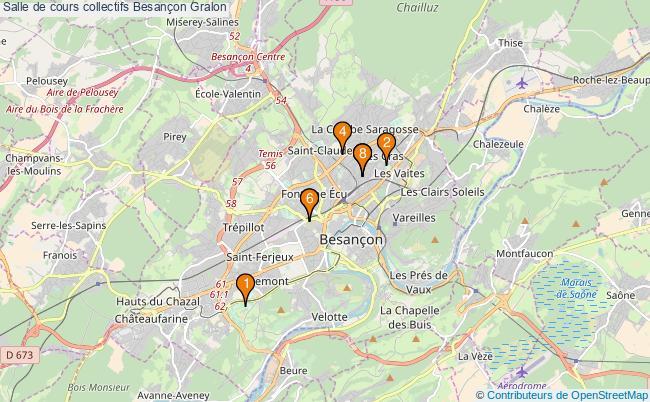 plan Salle de cours collectifs Besançon : 8 équipements