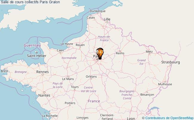 plan Salle de cours collectifs Paris : 147 équipements