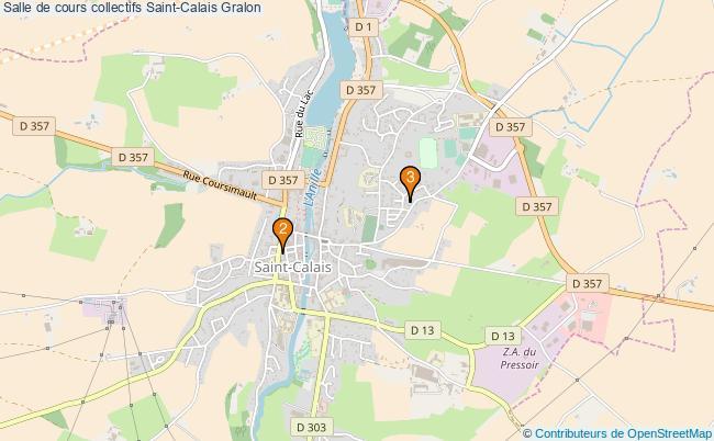plan Salle de cours collectifs Saint-Calais : 3 équipements