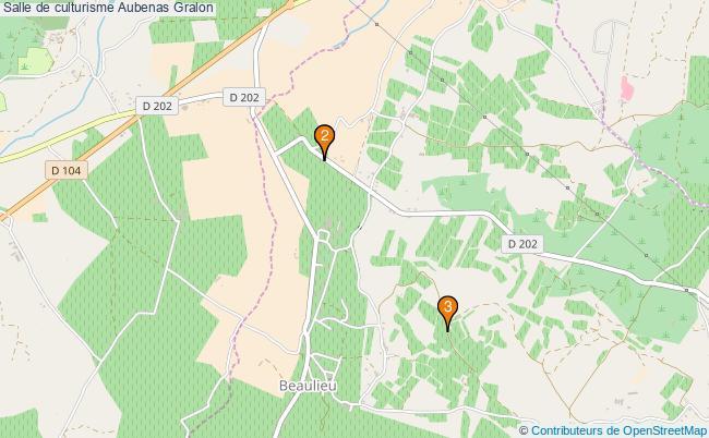 plan Salle de culturisme Aubenas : 3 équipements