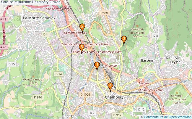 plan Salle de culturisme Chambéry : 5 équipements