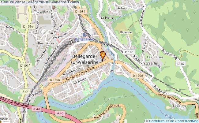 plan Salle de danse Bellegarde-sur-Valserine : 2 équipements