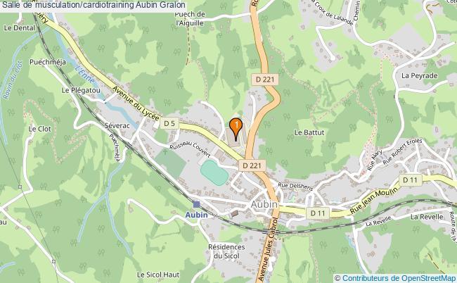plan Salle de musculation/cardiotraining Aubin : 1 équipements
