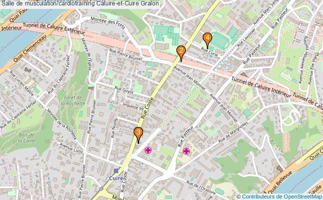 plan Salle de musculation/cardiotraining Caluire-et-Cuire : 4 équipements
