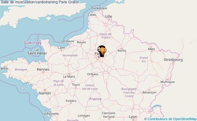 plan Salle de musculation/cardiotraining Paris : 255 équipements