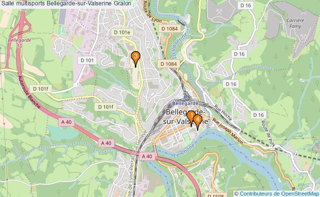 plan Salle multisports Bellegarde-sur-Valserine : 4 équipements
