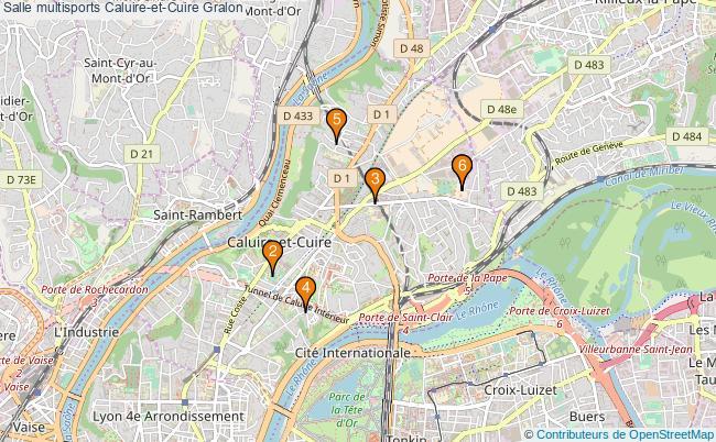 plan Salle multisports Caluire-et-Cuire : 6 équipements