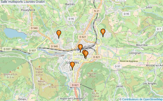 plan Salle multisports Lourdes : 7 équipements